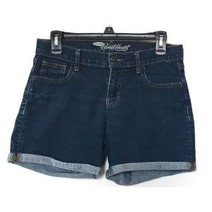 EUC Old Navy Sweetheart Dark Wash Denim Shorts